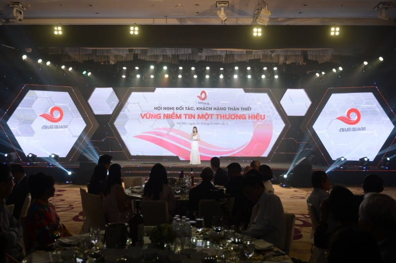 "Conference program of partners, customers on the occasion of ""20th year anniversary of Nhat Quang Steel (1999-2019)"""