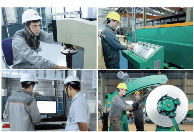 Hệ thống máy móc kiểm tra hiện đại, theo tiêu chuẩn quốc tế