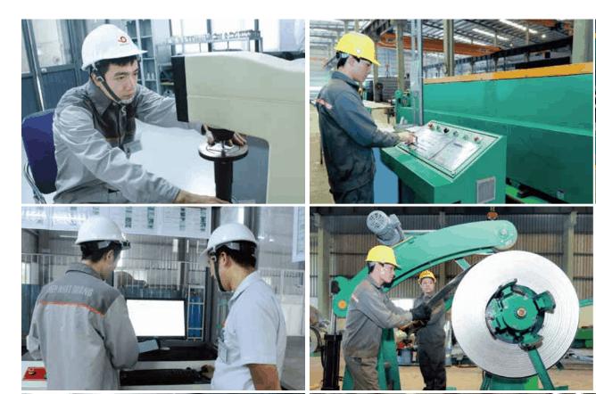 Quá trình kiểm tra và thử nghiệm được thực hiện bằng hệ thống máy móc hiện đại, chuyên nghiệp