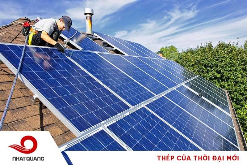 Ứng dụng của thép làm giá đỡ cho pin năng lượng mặt trời
