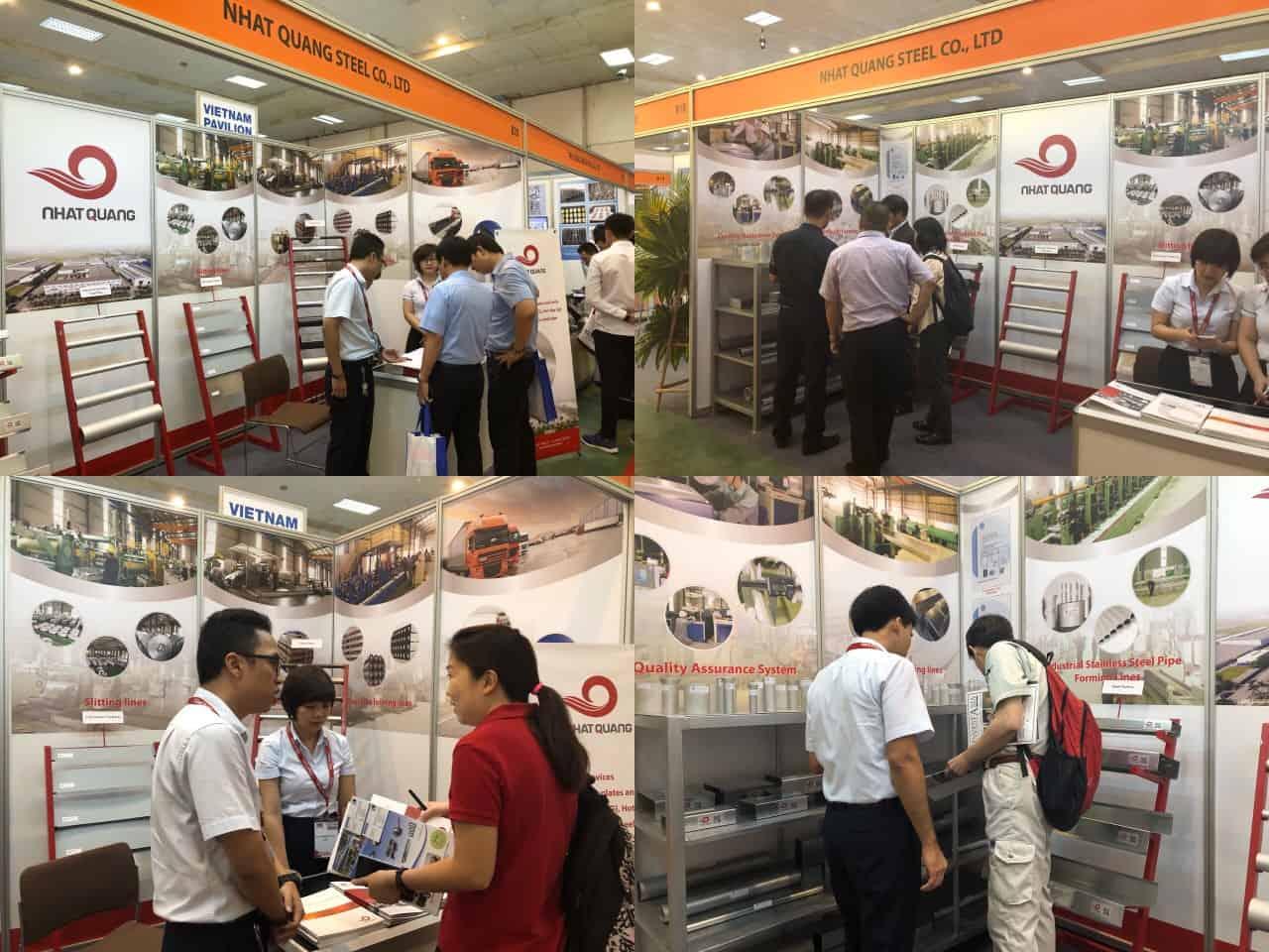 ông ty TNHH Thép Nhật Quang tham gia triển lãm Vietnam Manufacturing EXPO 2018 – Trung tâm triển lãm I.C.E 08-10/08/2018